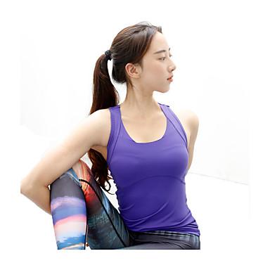 Mulheres Corrida Sutiã Esportivo Malha Íntima Secagem Rápida Redutor de Suor Confortável Moda Esportiva CorridaBranco Roxo Rosa claro
