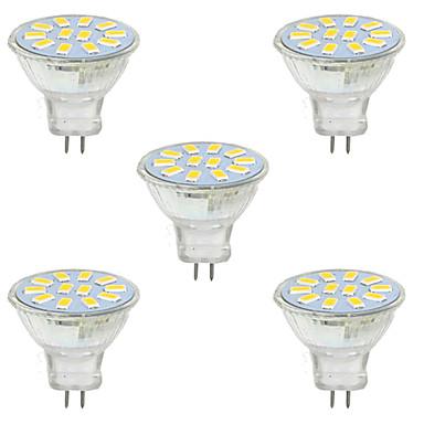 2W GU4(MR11) Dekorations Lys MR11 12 SMD 5730 150-200 lm Varm hvit Kjølig hvit Dekorativ 9-30 V 5 stk.