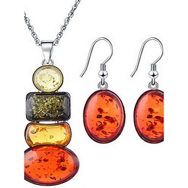 Schmuck Halsketten Ohrringe Halskette / Ohrringe Party 1 Set Damen Goldfarben Hochzeitsgeschenke