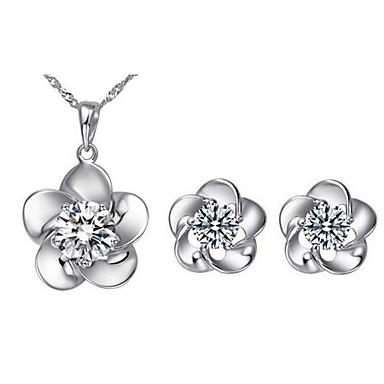 Mulheres Conjunto de jóias - Zircão, Zircônia Cubica Fashion Incluir Colar / Brincos Para Diário / Casual / Colares