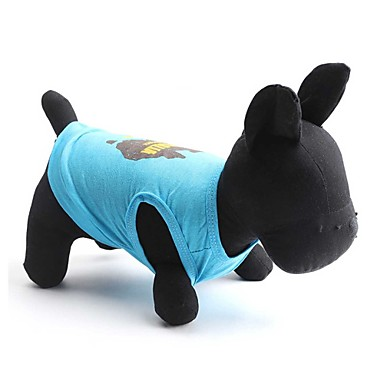 Katzen / Hunde T-shirt Blau Hundekleidung Sommer Blumen / Pflanzen Modisch