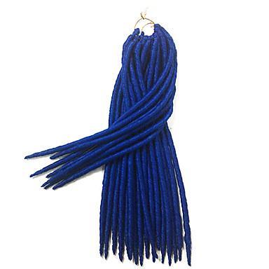 Bleu La Havane / Crochet dreadlocks Extensions de cheveux 14 18 inch Kanekalon 24 Brin 115-125 gramme Braids Hair