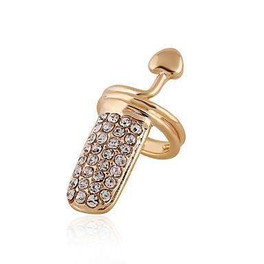 Damen Nagel-Finger-Ringe Personalisiert Party Freizeit Sexy Liebe Herz Modisch Europäisch Diamantimitate Herz Schmuck Alltag Normal