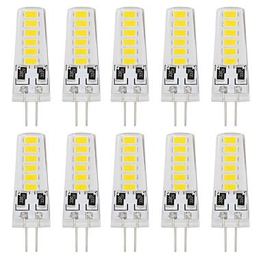 YouOKLight 10 Stück 180lm G4 LED Doppel-Pin Leuchten T 12 LED-Perlen SMD 5733 Dekorativ Warmes Weiß Kühles Weiß 12V
