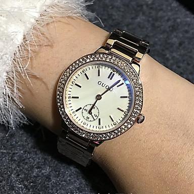 ieftine Ceasuri Damă-Pentru femei Ceas La Modă Quartz Quartz Japonez Placat Cu Aur Roz Oțel inoxidabil Roz auriu Ceas Casual Analog Lux Sclipici - Alb Negru