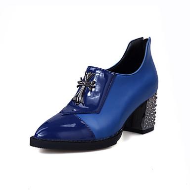 Femme Chaussures Polyuréthane Eté Automne Confort Talon Bottier pour Décontracté Bureau et carrière De plein air Blanc Noir Rouge Bleu