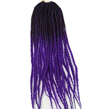 צמות טוויסט צמות Box Kanekalon 1b / סגול burgundy 1b / # 27 1b / # 30 1b / # 33 תוספות שיער 24