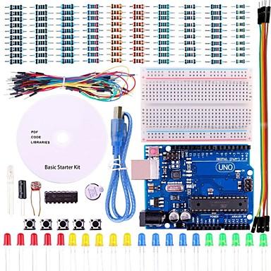 uno projekt grundlæggende startpakke med tutorial og uno r3 for Arduino