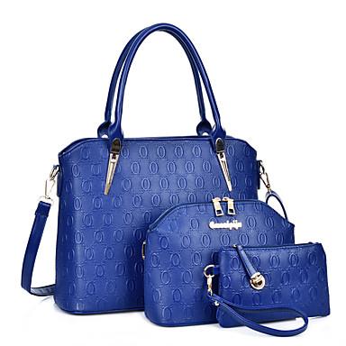 Femme Polyuréthane Formel / Décontracté / Shopping / Bureau & Travail Cabas Blanc / Bleu / Or / Noir