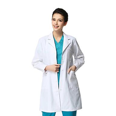 Casaco branco médico manga comprida espessamento macho xl
