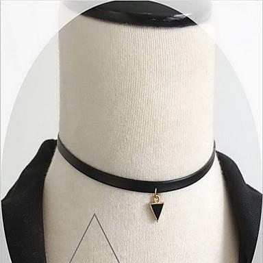 שרשראות שרשראות מחרוזת קעקוע קולר תכשיטים יומי קזו'אל סגנון קעקוע אופנתי סקסית סגסוגת תחרה 1pc מתנות שחור- לבן