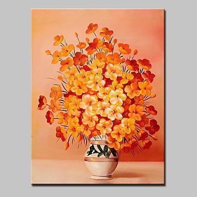 יד ציור צבוע בד שמן תמונת פרחים מופשטים מודרנית עם מסגרת מתוח מוכנה לתלות