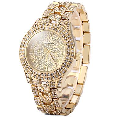 Damen Armbanduhren für den Alltag Pavé-Uhr Kleideruhr Modeuhr Quartz Armbanduhren für den Alltag Imitation Diamant Rose Gold überzogen