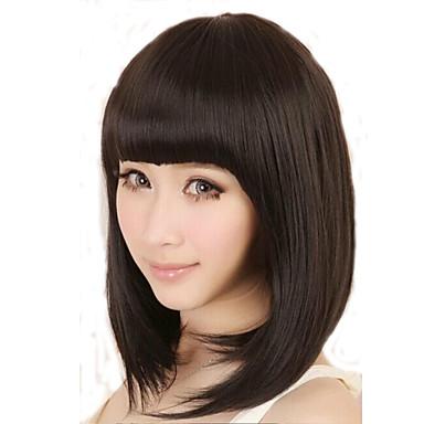 Черный парик Парики для женщин Прямой Карнавальные парики Косплей парики