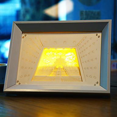 oss plugge ledet kreativ papir carving 3d dekorative jule nattlys Temple of Heaven