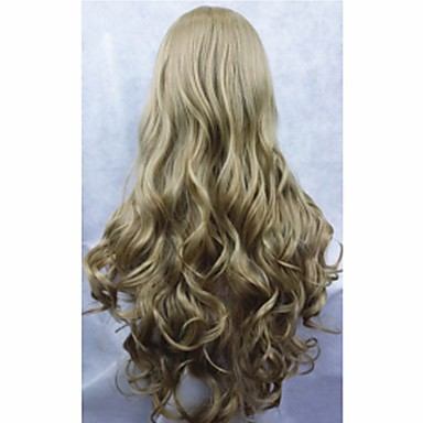 cosplay wig 2015 New Movie Princess Cinderella Wig Long Curly Ash Blonde Anime Cosplay Wigs