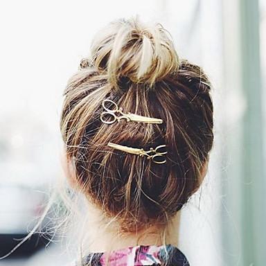 נשים סגסוגת כיסוי ראש-אירוע מיוחד קז'ואל חוץ כומתה קליפס לשיער סיכת שיער 2 חלקים