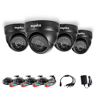 sannce® ahd 720p dome utendørs ir cut cctv kamera sett weatherproof hjem sikkerhet system kameraer