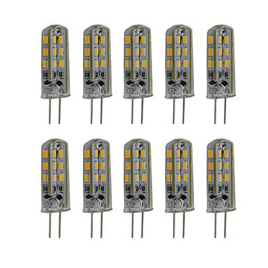 3W G4 Luminárias de LED  Duplo-Pin T 24 SMD 3014 300 lm Branco Quente / Branco Frio Decorativa DC 12 V 10 pçs