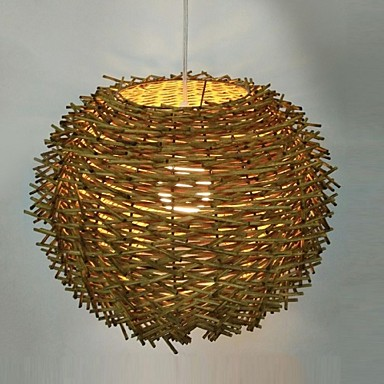 Luzes Pingente ,  Lanterna Outros Característica for Estilo Mini Madeira/Bambu Sala de Estar Sala de Jantar 1 Lâmpada