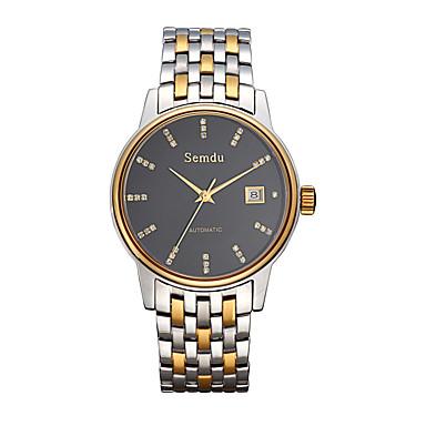 Masculino Relógio de Moda Automático - da corda automáticamente Impermeável Aço Inoxidável Banda Preta / Branco marca