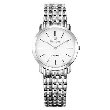 Masculino Relógio de Moda Quartz / Quartzo Japonês Impermeável / Relógio Casual Aço Inoxidável Banda Prata / Ouro Rose marca