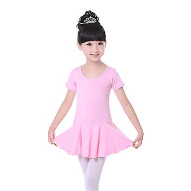 Ballet Vestidos Entrenamiento Algodón Lazo(s) Mangas cortas Cintura Media Vestido