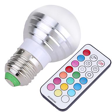 YWXLIGHT® 1pc 5 W 400 lm E26 / E27 LED-globepærer 4 LED Perler SMD Dæmpbar / Fjernstyret / Dekorativ Kold hvid / RGB 220-240 V / 110-130 V / 85-265 V / 1 stk. / RoHs