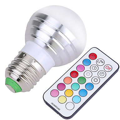 YWXLIGHT® 400 lm E26 / E27 Bombillas LED de Globo A50 4 Cuentas LED SMD Regulable / Control Remoto / Decorativa Blanco Fresco / RGB
