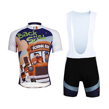 ILPALADINO בגדי ריקוד גברים שרוולים קצרים חולצת ג'רסי ומכנס קצר ביב לרכיבה - שחור אופניים מכנסיים קצרים מכנסיים קצרים עם כתפיות ג'רזי
