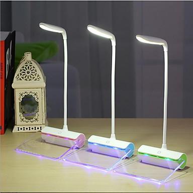 מודרני / עכשווי נטענת מנורת שולחן עבודה עבור פלסטיק ירוק / כחול / ורוד