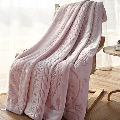 Flanela,Jacquard Floral / Botânico 100% Algodão cobertores