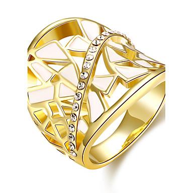 billige Motering-Dame Band Ring Løftering Kubisk Zirkonium Gylden Rose Gull 18K Gullbelagt Rose gull Syntetiske Edelstener Oval damer Vintage Mote Bryllup Fest Smykker