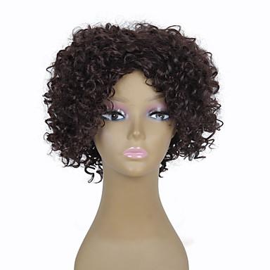 שיער סינטטי פאות מסולסל ללא מכסה קצר