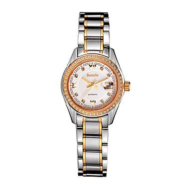 Mulheres Relógio de Moda Quartz Impermeável Aço Inoxidável Banda Prata marca