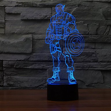 מיקרו USB bulbing 3D LED מנורת שולחן-nightcolor שינוי מנורת לילה