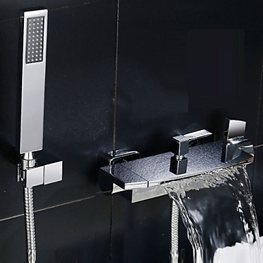 ברז למקלחת ברז לאמבטיה - עכשווי כרום מקלחת ואמבטיה שסתום קרמי