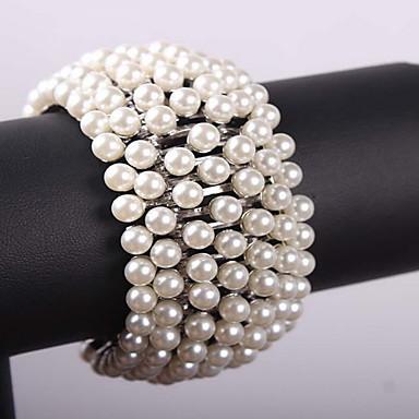 נשים צמידי Strand צמידי טניס אופנתי פנינה סגסוגת תכשיטים תכשיטים עבור Party