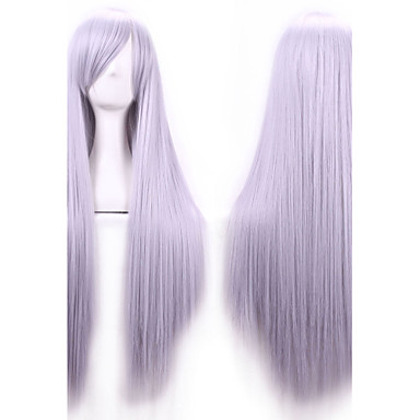 Synthetic Hair Wigs Straight Side Part With Bangs Capless Carnival Wig Halloween Wig Long