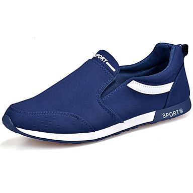 Herrn Schuhe Stoff Frühling Herbst Komfort Loafers & Slip-Ons Walking für Normal Schwarz Rot Blau