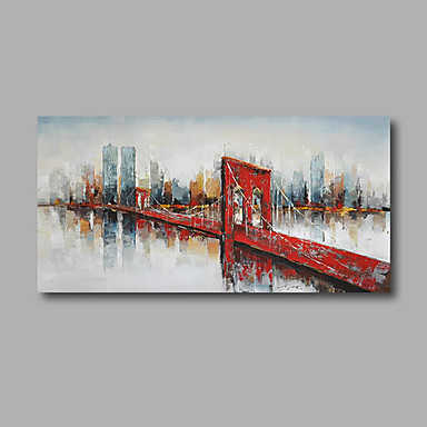 Handgemalte Abstrakt / Landschaft Ölgemälde,Modern Ein Panel Leinwand Hang-Ölgemälde For Haus Dekoration