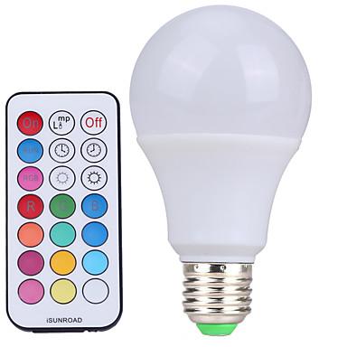 YWXLIGHT® 10W 500 lm E26/E27 Bombillas LED de Globo A60(A19) 12 leds SMD Regulable Decorativa Control Remoto Blanco Fresco RGB AC