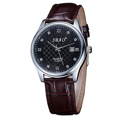 Paar Armbanduhr Armbanduhren für den Alltag PU Band Charme / Modisch Braun