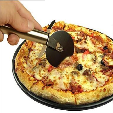 1 Stück Edelstahl Pizzaschneider runde Form Pizza Räder Schneider Kuchen Brot Rundmesser Schneider Pizza Werkzeuge