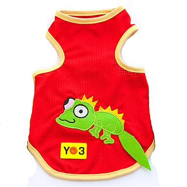 Kat Hund Trøye/T-skjorte Hundeklær Tegneserie Dyr Svart Gul Rød Bomull Kostume For kjæledyr Herre Dame Mote