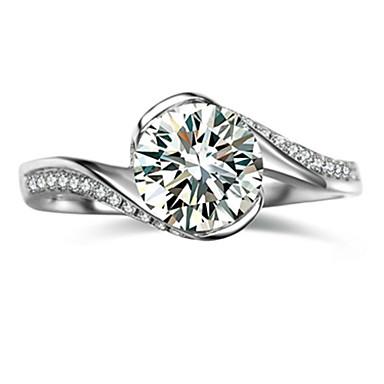 Ringen Modieus Bruiloft Sieraden Sterling zilver / Strass Dames Bandringen 1 stuks,5 / 6 / 7 / 8 / 9 / 8½ / 9½ / 4 Zilver