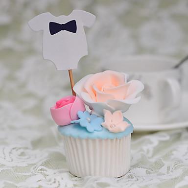 Decorações de Bolo Tema Praia Tema Clássico Engraçado e Relutante Papel de Cartão Casamento Aniversário Com Laço PPO