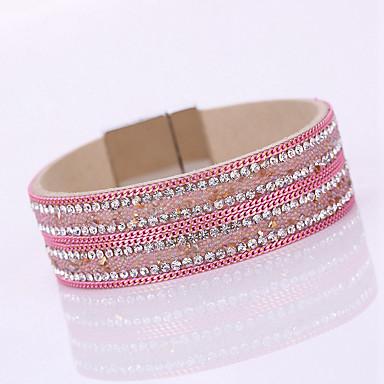 Bracelet Bracelets Wrap / Bracelets en cuir Alliage / Cuir / Strass Forme de Cercle Mode / Bohemia style / AdorableSoirée / Quotidien /