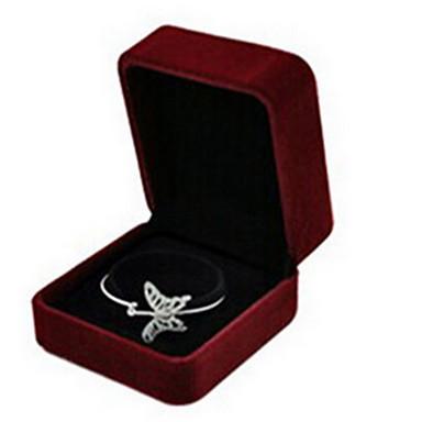 קופסאות תכשיטים / תצוגות תכשיטים ניילון 1pc ורד / שחור- לבן