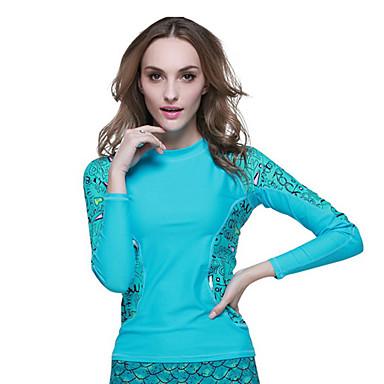 SBART Mulheres Roupas de mergulho Mergulho Skins Resistente Raios Ultravioleta Compressão Tactel Fato de Mergulho Manga Longa Roupas de